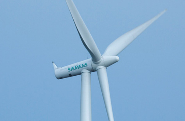 Siemens' wind turbine. Click to enlarge.