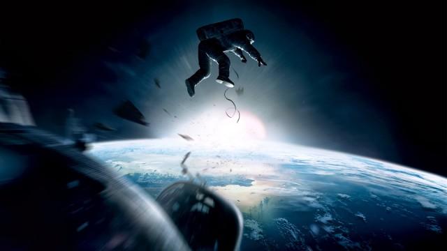 A still from the award winning Hollywood movie Gravity
