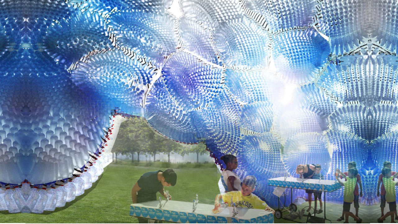 Plastic Bottle Recycling Part - 38: Plastic_bottle_cloud, An Art Form Made Of 53,000 Plastic Bottles At 2013  FIGMENT Art Festival, Governors Island Created By Jason Klimoski And Lesley  Chang