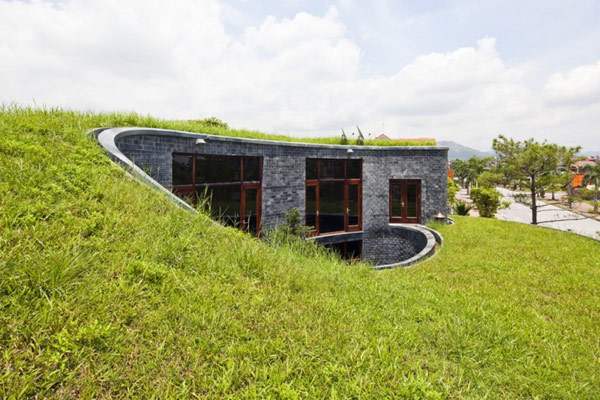 A home developed including sustainable features in Vietnam