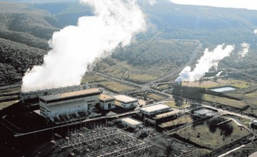The Olkaria power generation plant.
