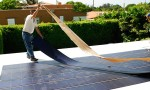 Thin film flexible solar PV installation