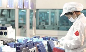 Jinko Solar panel factory