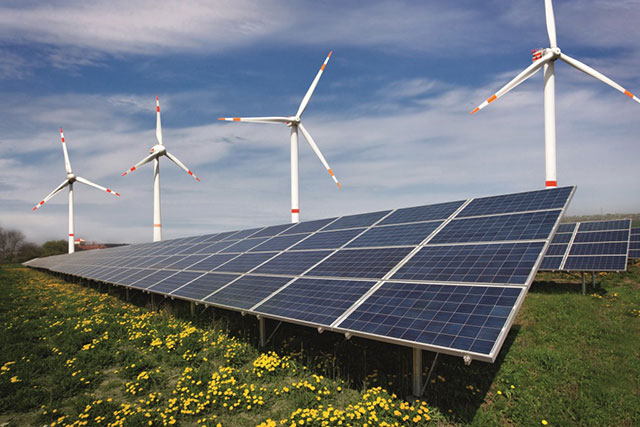 Wind, Solar, Natural gas projects