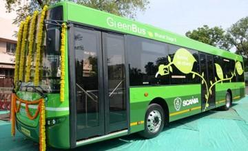 Biofuel green bus