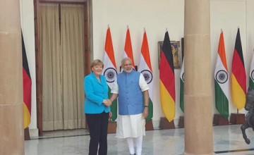 PM Modi and German Chancellor Merkel