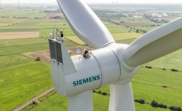 Siemens wind turbines in Scotland