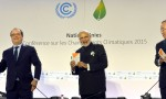 Narendra Modi launches International Solar Alliance, during the COP21 Summit, in Paris