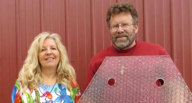 Solar Roadways founders Scott and Julie Brusaw