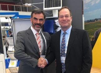 Gregory Erdmann, NRG Systems' VP of Global Sales, and Francisco Torres, Lasser Eólica's CEO