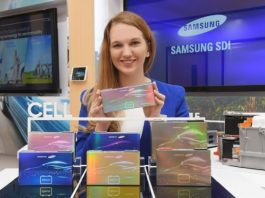 Samsung SDI battery for e-vehicles
