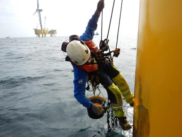 wind power coating process