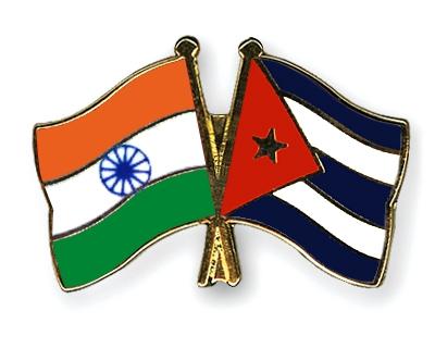 India-Cuba flags