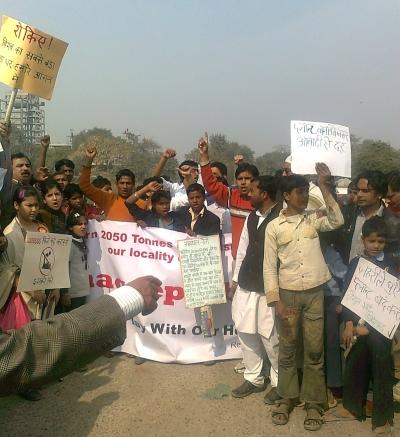 Rally Against Incinerator Plant in Delhi