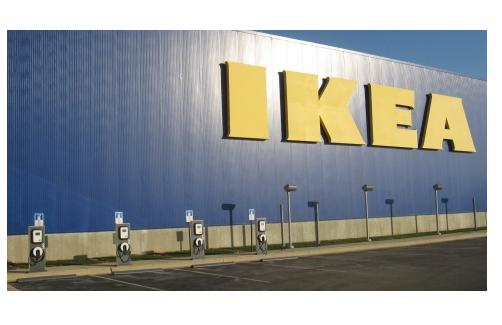 Blink electric vehicle charging stations at IKEA