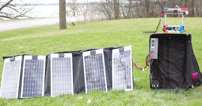 Setup #2 – Portable Solar 3D Printer in a Suitcase