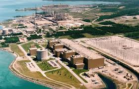 Bruce nuclear plant on Lake Huron