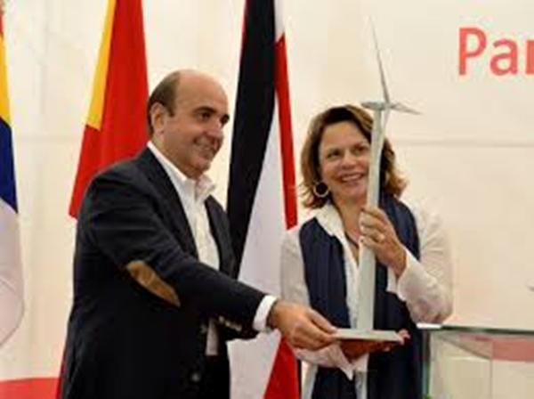 Costa Rica vice president Ana Helena Chacón inaugurates the Chiripa wind farm