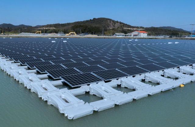 Kyocera floating power plant