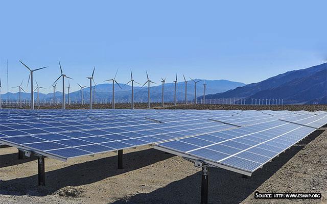 Solar wind grid integration