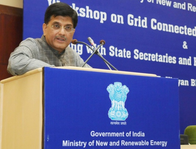 The Minister of State (Independent Charge) for Power, Coal and New and Renewable Energy, Shri Piyush Goyal
