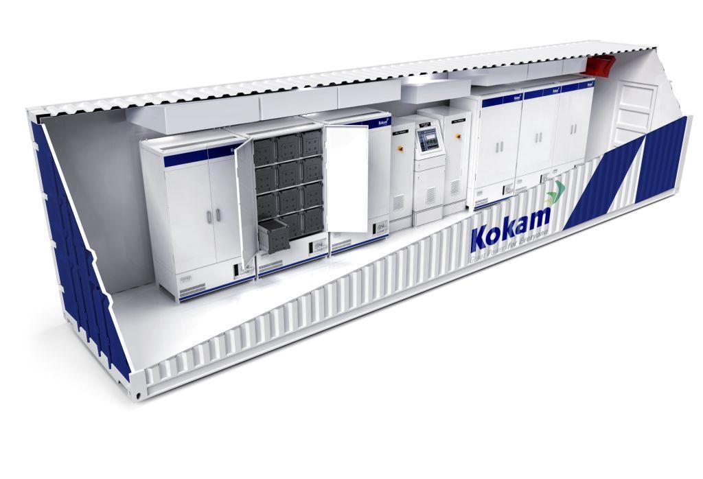 Kokam's KCE 40-foot Container Interior Cutaway
