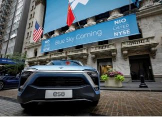 NIO e-vehicle China