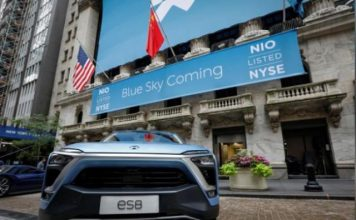 NIO e-vehicle China