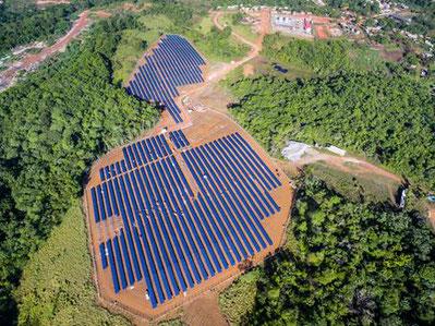 Remote solar-diesel plant in Africa