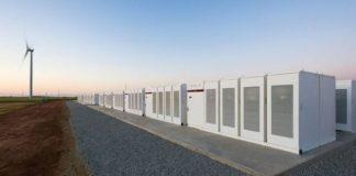 Tesla battery storage packs